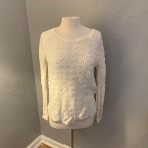 Banana Republic crewneck pointelle sweater 🏷